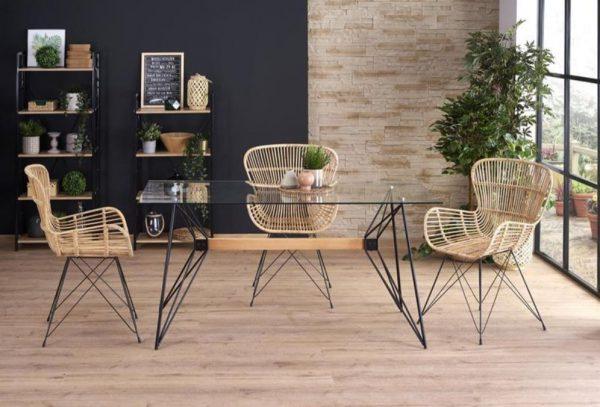 Krzesła rattanowe rattan naturalny 2szt. - od ręki 1