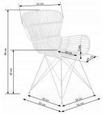 Krzesła rattanowe rattan naturalny 2szt. - od ręki 4