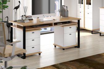 CRAFT – biurko z półką w stylu loft - 5 kolorów 55
