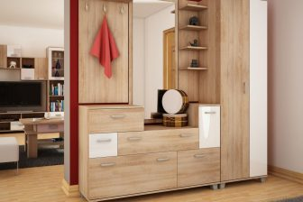 GRANDE 2- garderoba z lustrem i szafą 18