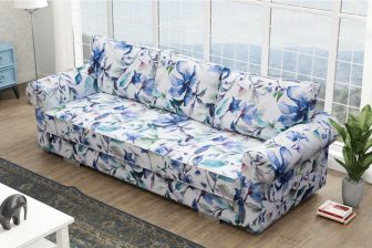 FLOWERS - kanapa w stylu angielskim z funkcją spania / kanapa w kwiaty różne kolory 12