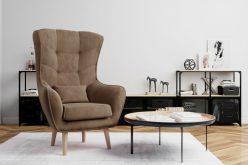 ARETTA - fotel typu uszak z poduszką 3