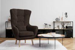 ARETTA - fotel typu uszak z poduszką 4