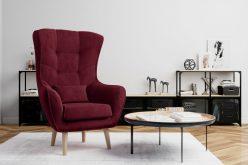 ARETTA - fotel typu uszak z poduszką 8