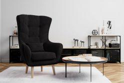 ARETTA - fotel typu uszak z poduszką 9