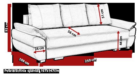 ANTONINA - wygodna kanapa z funkcją spania 28