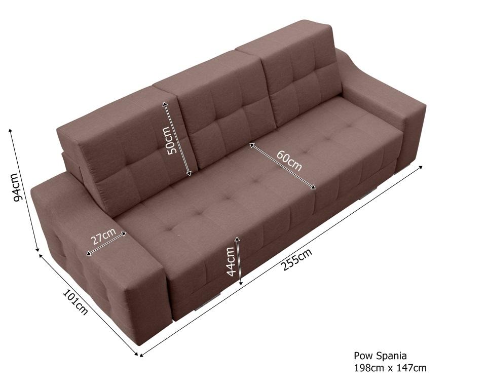 COSTA - kanapa pikowana z funkcją spania 16
