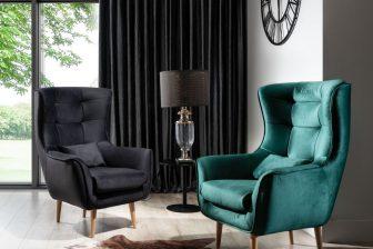 ARETTA - fotel typu uszak z poduszką 47