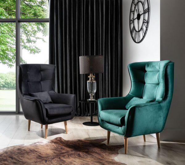 ARETTA - fotel typu uszak z poduszką 1