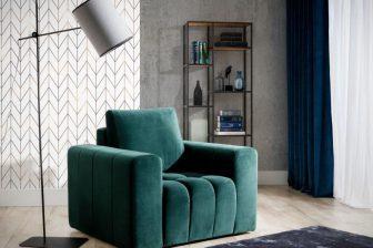 LORETTA - fotel nowoczesny z poduszką 5
