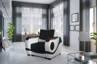 PANAMA - fotel klasyczny ze zdobieniem 6