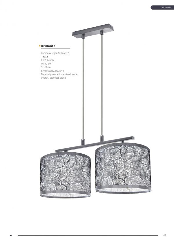 Lampa wiszaca Brillante 2 5