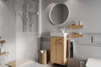 ELITA - szafka łazienkowa wisząca 40 z umywalką sonoma lub biel 8
