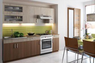 BASTA - tanie meble kuchenne z blatem w stylu nowoczesnym 2,4m 91
