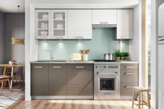 PARMA BB - ekskluzywne szare meble kuchenne 2,4m 59