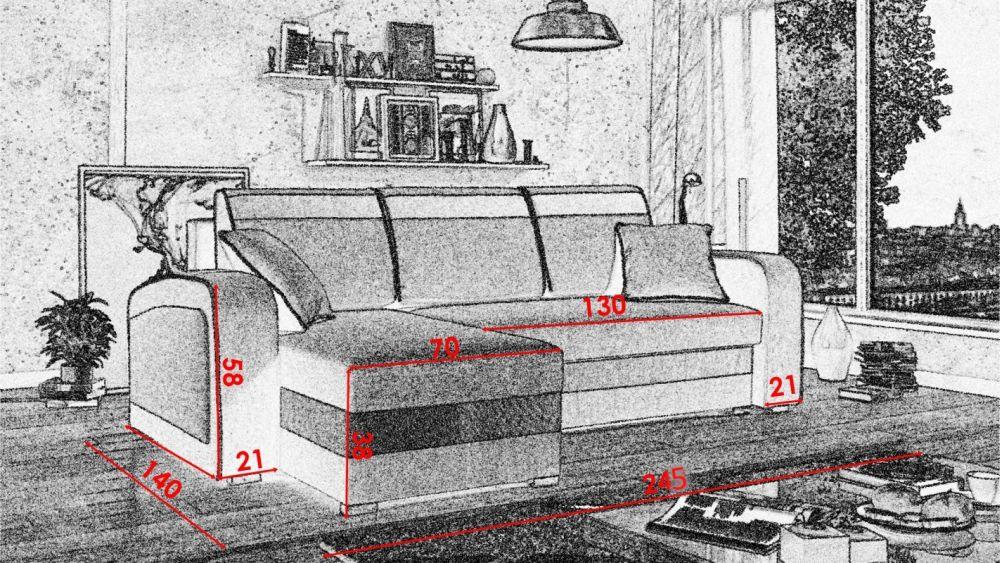 Narożnik X-FORM z funkcją spania - szybka realizacja 2