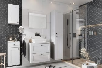 SORAYA - meble łazienkowe klasyczne wiszące białe 9