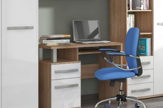 ANGELO 1DRZ/1SZ - biurko z szufladą i półką 189