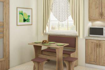 KAMA 3- zestaw kuchenny z ławką i taboretami 105