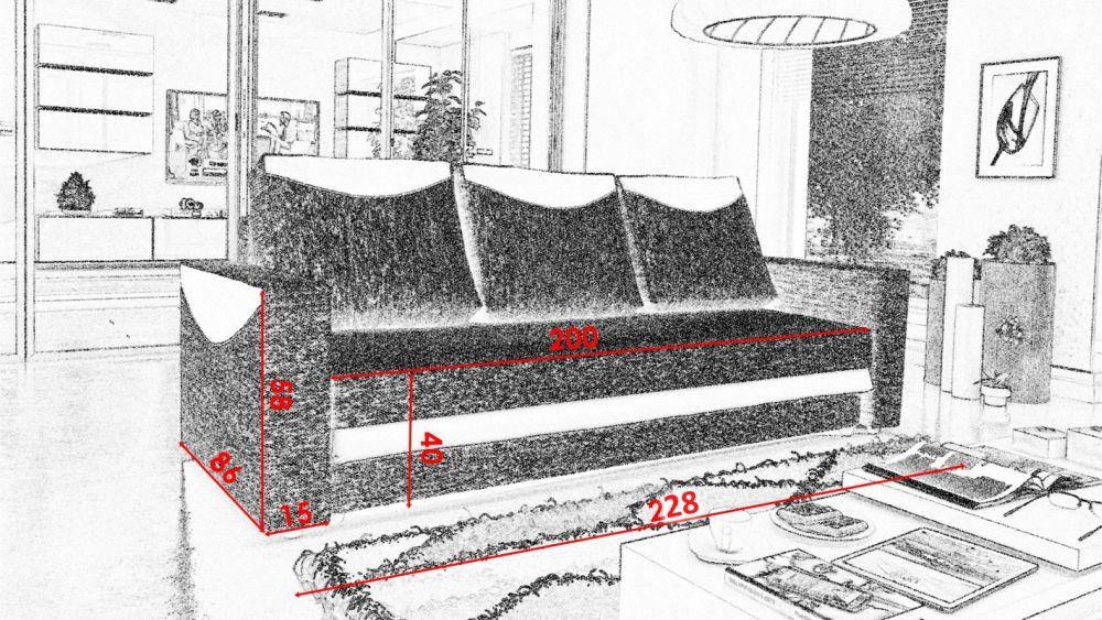 NEW LOOK - kanapa rozkładana - szybka realizacja 2
