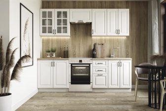 AGATHA - meble kuchenne biały mat 2,4m 2