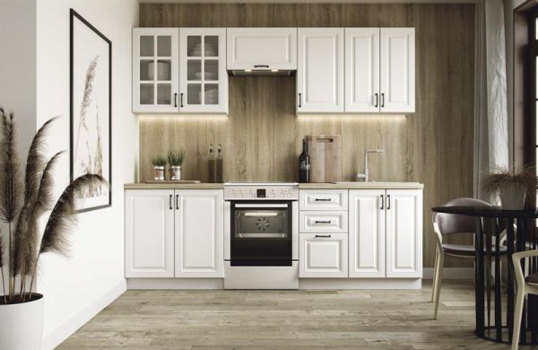 AGATHA - meble kuchenne biały mat 2,4m 1