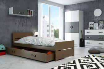 BOLEK - łóżko jednoosobowe parterowe komplet - 3 KOLORY 11