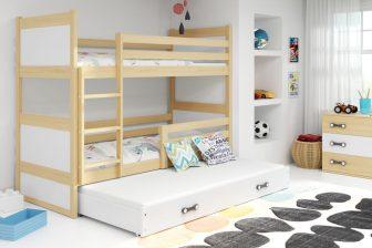 ELMO TRIO - łóżko piętrowe trzyosobowe - WIELE KOLORÓW 16