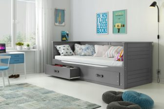 HEMES - łóżko rozsuwane białe 200x80 - KOMPLET 22