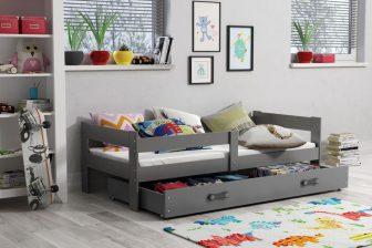 LOLEK - łóżko jednoosobowe parterowe komplet - 1 KOLOR 25