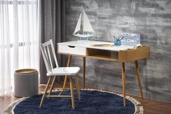 B-BAH45 - duże biurko w stylu skandynawskim 33