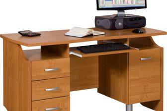 CARBON - duże biurko z wysuwaną klawiaturą - 9 KOLORÓW 36