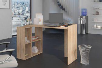 TEO - biurko narożne z regałem - 9 KOLORÓW 41