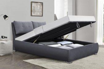 BRIDGET 160 - łóżko z pojemnikiem na pościel 77