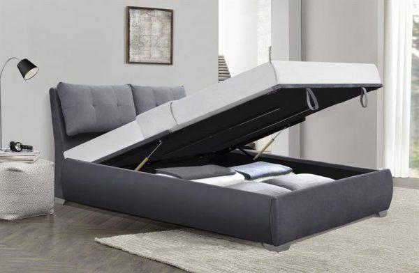 BRIDGET 160 - łóżko z pojemnikiem na pościel 1