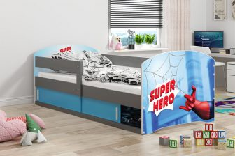 YOGI - łóżko jednoosobowe ze schowkiem - komplet - DUŻO WZORÓW 39
