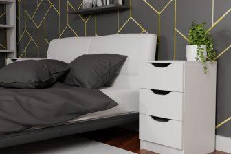MOCCO 3SZ - szafka nocna z szufladami 207