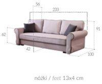 JULITA - rozkładana kanapa w stylu paryskim 10
