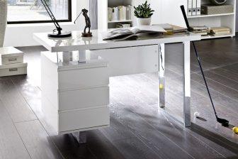 SOLO 2 - biurko w połysku z szufladami 80