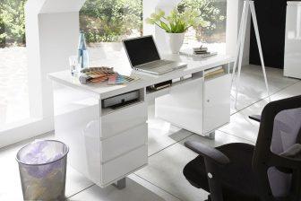 SOLO 3 - duże biurko w połysku z szufladami 8