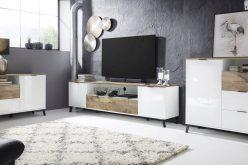 COSMO 2SZ - nowoczesny stolik szafka RTV 4
