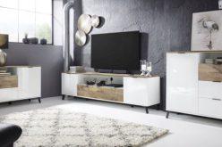 COSMO 2SZ - nowoczesny stolik szafka RTV 9