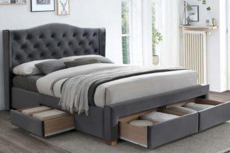 ASPEN 160 - łóżko tapicerowane z szufladami 10