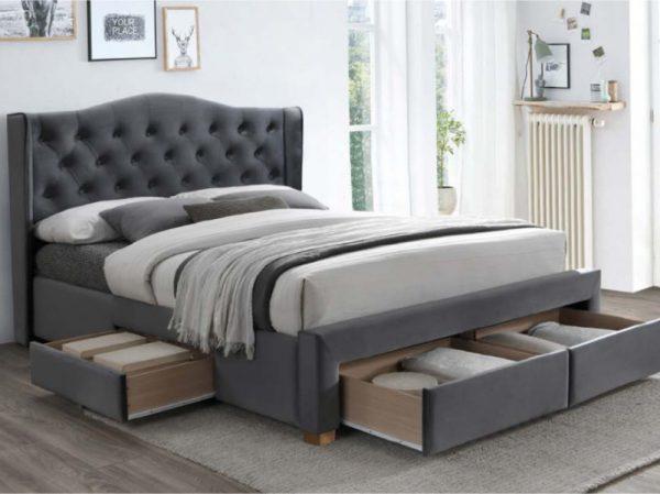 ASPEN 160 - łóżko tapicerowane z szufladami 1