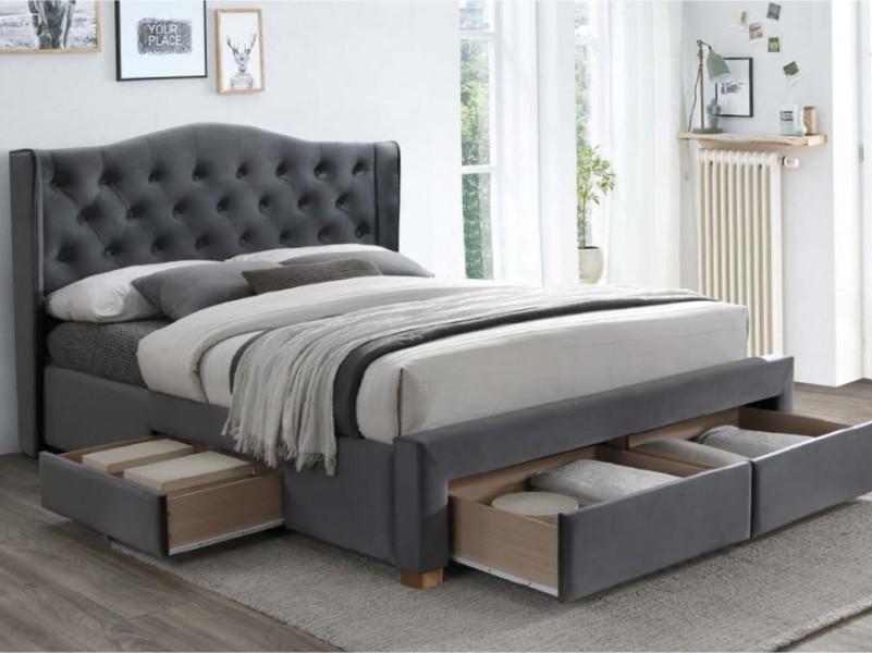ASPEN 160 - łóżko tapicerowane z szufladami 3