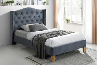ASPEN 120 VELVET - łóżko tapicerowane - ciemny szary 31
