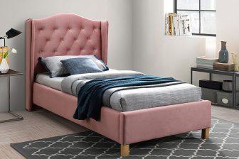 ASPEN 90 VELVET - łóżko tapicerowane - kolory 33