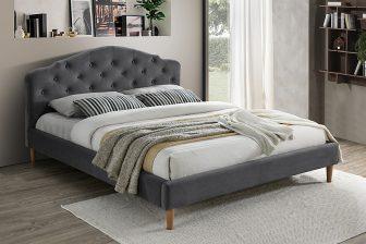 CHLOE 160 - łóżko tapicerowane szare 6