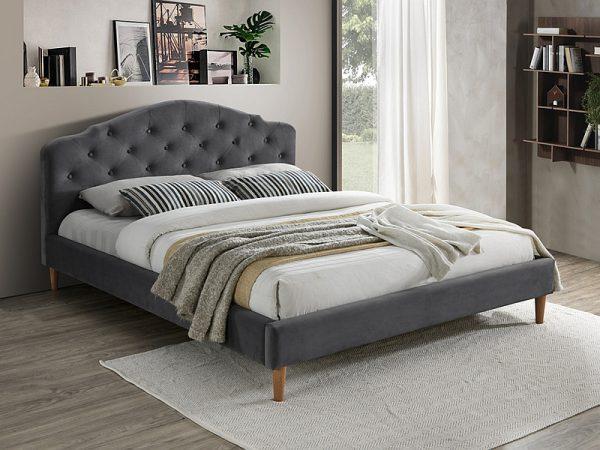 CHLOE 160 - łóżko tapicerowane szare 1
