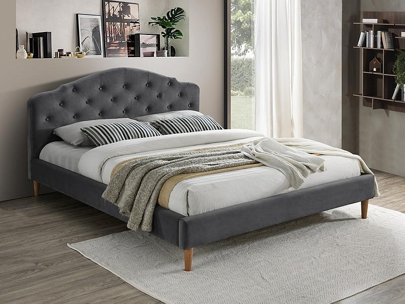 CHLOE 160 - łóżko tapicerowane szare 3